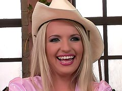 Cowgirl cutie with big sexy titties