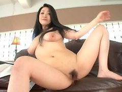 Minako Komukai Shows Off Her Massive Tits And Hairy Pussy