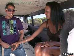 Intense Bang Bus Experience With A Gorgeous Ebony Teen
