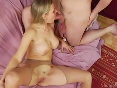 Ass rimming and cocksucking milf with big tits