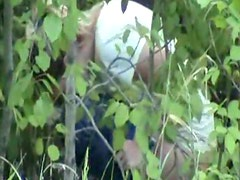 Voyeur pissing porn in the leafy woods