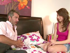 Lexi Bloom seduces a grey-haired man and fucks him