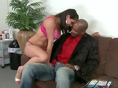 Adorable Charley Chase having wild interracial sex