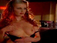 Ginger Waitress Strips For One Of Her Rare Hot Customers