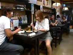 Ayaka Tomoda gets her cunt drilled in a restaurant