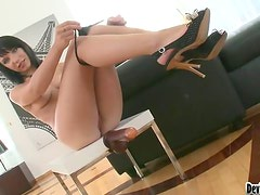 K. Jamaica and his sidekick double penetrate hot brunette Lina A