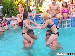 Pool Party With Male Strippers & Slutty Chicks.