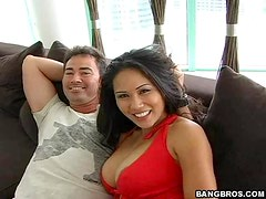 Asian Babe Gets Her Tight Pussy Rammed By A Hard Cock
