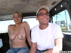 Hot Sex Inside the Bang Bus With A HOrny Slut