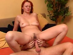 Curvy mature finds his dick a great pleasure