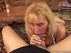 Sexy blond milf Lexxy Foxx is a cleaning lady with desires