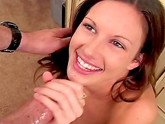 Taylor Rain blowjob and big facial