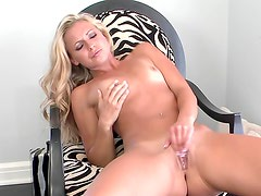 Sweet young Lena Nicole in the chair