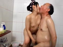 Naughty Mamiru Momone gets fucked by old man