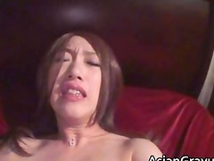 Sexy asian babe with great body sucks
