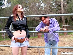 Getting Pussy Redhead Hardcore Outdoor Sex