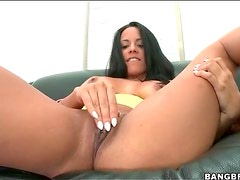 Slut in black tights strips and teases with big butt