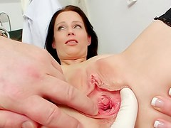 Her gynecological exam is exciting
