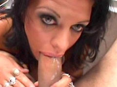 Big mouth babe is perfect for sucking cock