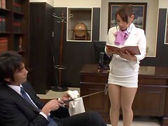 Sexy Secretary Chihara Nakai Pleases Her Horny Boss