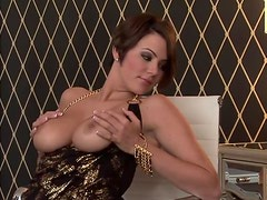Voluptuous Beauty Sara Stokes Fondling Her Awesome Big Melons