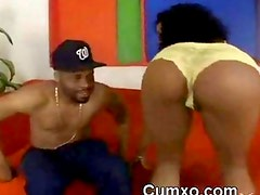 Guy Oiling Mega Phat Black Ass And Sucked