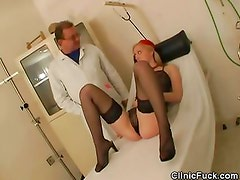 Doctor Checks Up A Blindfolded And Gagged Babe