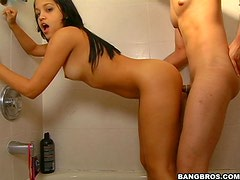 Hot Shower fucking With The teen Latina Anna