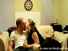 Naughty Teen Blows Her Boyfriend IN Homemade Video