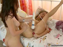 A Hot Lesbian Scene Between The Teen Hotties Abbey And Sophia
