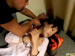 Two Dudes Force-Fuck A Cute Asian Chick