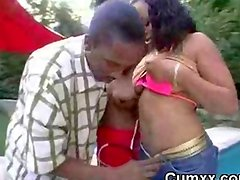 Afro Black Big Butt Hottie Slut Sucking BBC
