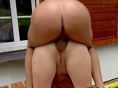 Sexy blonde housewife gets her horny wet