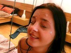 Thick dick cums on Candy Alexa