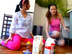 A Dirty Lesbian Scene With Food Loving Hotties