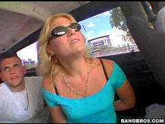 A Hot Fuck For The Sexy Blonde Lisa In The Back Of The Bang Bus
