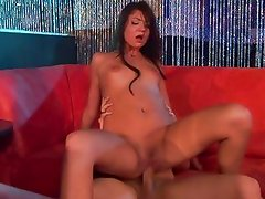 Cassandra Nix bounces her wet pussy on this hard dick
