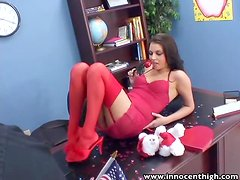 Valentine Special Horny Missy Stone rides her fave teacher