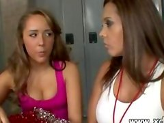 Ella Milano Receives Great Kissing Lessons From Her Sport Teacher In The Locker Room