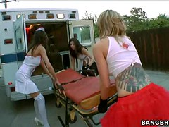Naughty Nurses Know Some Cock to Mouth Breathing