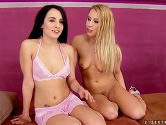 Kerry and Nikky Thorne use toys while playing with each other's vags
