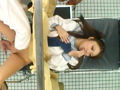 Sweet Japanese teen is having special fun in geynocological office
