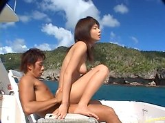 Rin Suzuka gets amazingly fucked from behind on a yacht