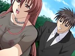 Brown-haired anime hottie loves amazing threesome FFM sex