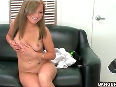 Casting couch interview and a striptease