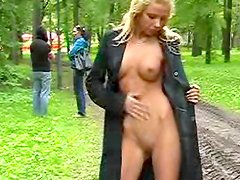 Truly nice public undressing front a stunning blonde, enjoy