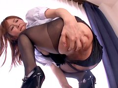 Miku Ohhashi lets the man finger her pussy and fuck it hard