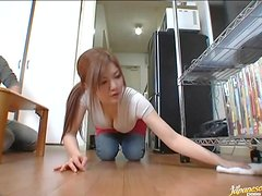 Japanese couple watches porn and tries to repeat what they've seen