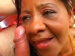 Ebony mature Neide Costa fucked like a slut