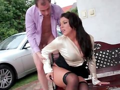Satin blouse beauty laid outdoors